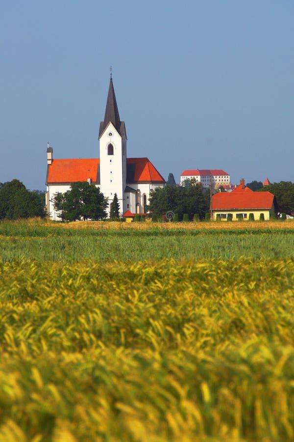 Αγροτικό τοπίο το καλοκαίρι, Σλοβενία στοκ φωτογραφία με δικαίωμα ελεύθερης χρήσης
