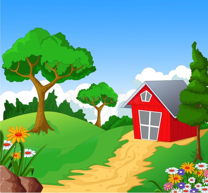 Αγροτικό υπόβαθρο για σας σχέδιο ελεύθερη απεικόνιση δικαιώματος