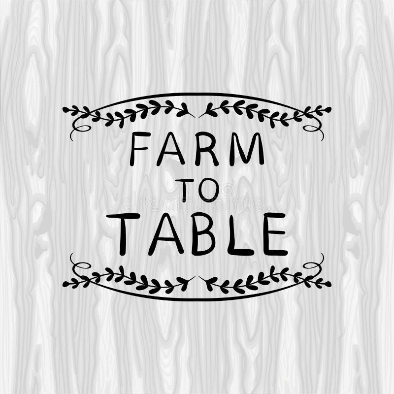 Αγρόκτημα στην επιτραπέζια ΔΙΑΝΥΣΜΑΤΙΚΗ απεικόνιση, Floral πλαίσιο Doodle, μαύρο σύντομο χρονογράφημα περιλήψεων διανυσματική απεικόνιση