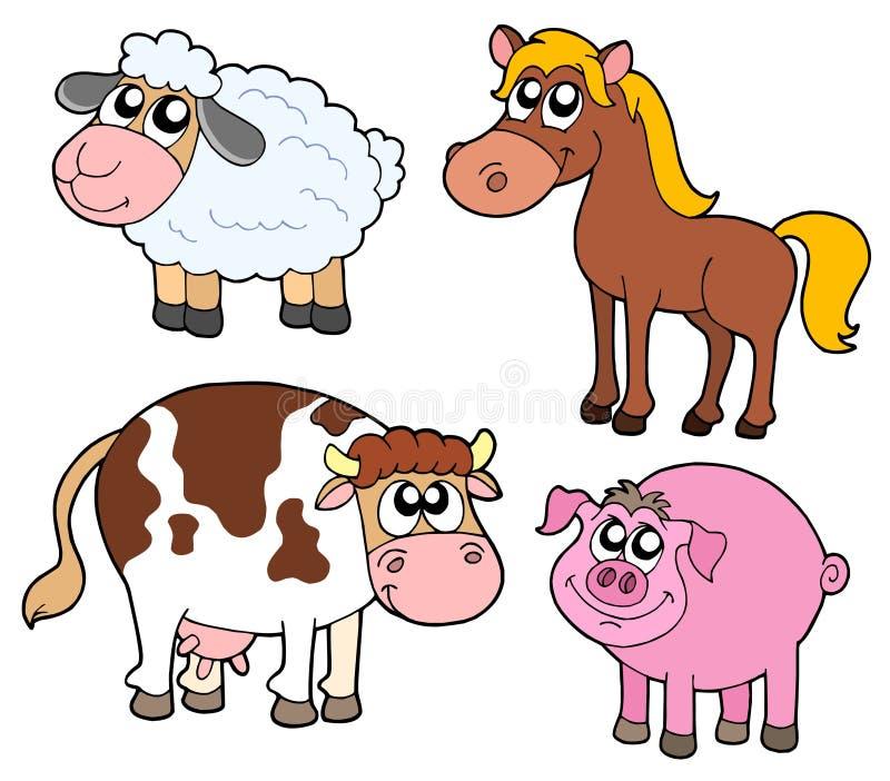 αγρόκτημα συλλογής ζώων διανυσματική απεικόνιση