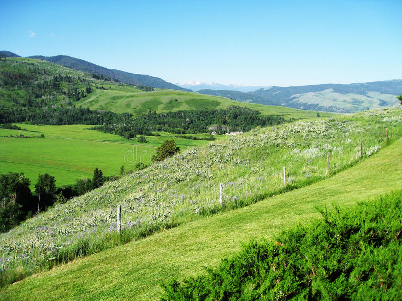 Αγρόκτημα της Μοντάνα στοκ εικόνες με δικαίωμα ελεύθερης χρήσης