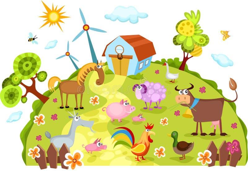 αγρόκτημα απεικόνιση αποθεμάτων