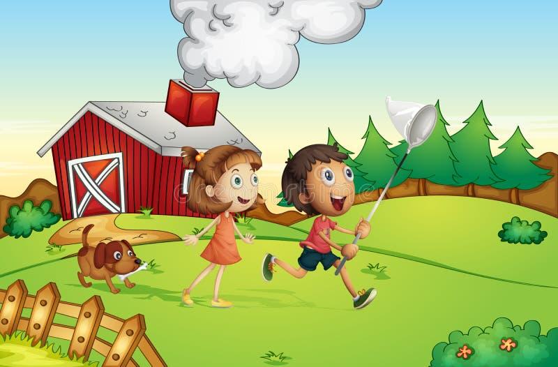 Αγρόκτημα διανυσματική απεικόνιση