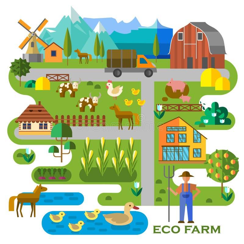 Αγρόκτημα Eco διανυσματική απεικόνιση
