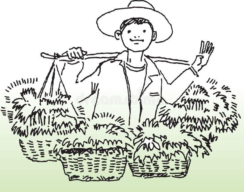 αγρότης ευτυχής διανυσματική απεικόνιση