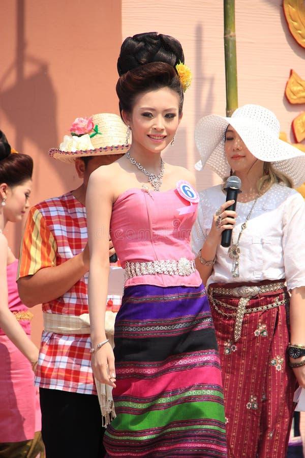 Αγωνιζόμενος για τη Δεσποινίς Songkran 2014 στοκ φωτογραφία με δικαίωμα ελεύθερης χρήσης