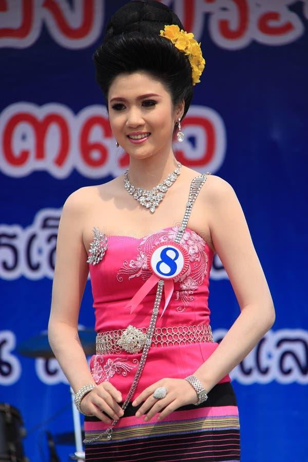 Αγωνιζόμενος για τη Δεσποινίς Songkran 2014 στοκ φωτογραφίες με δικαίωμα ελεύθερης χρήσης