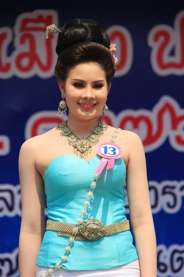 Αγωνιζόμενος για τη Δεσποινίς Songkran 2014 στοκ φωτογραφίες