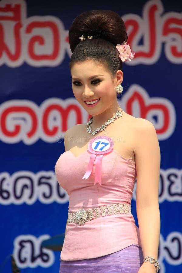 Αγωνιζόμενος για τη Δεσποινίς Songkran 2014 στοκ εικόνες με δικαίωμα ελεύθερης χρήσης