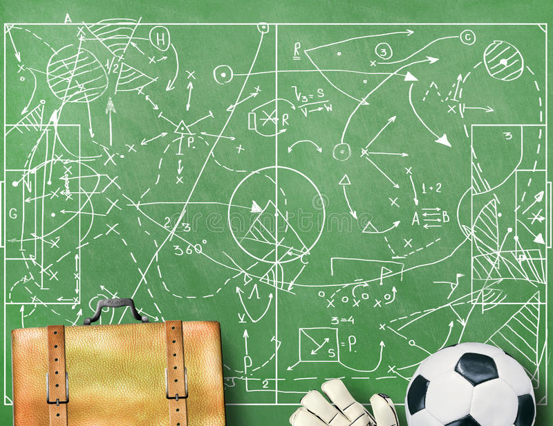 Αγωνιστικός χώρος ποδοσφαίρου με τα σημάδια στοκ φωτογραφίες