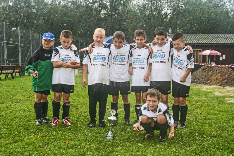 Αγόρια από την ομάδα BSC ποδοσφαίρου στοκ εικόνα με δικαίωμα ελεύθερης χρήσης