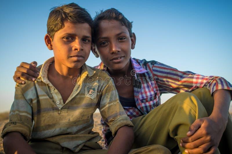 αγόρια Ινδός δύο στοκ φωτογραφία με δικαίωμα ελεύθερης χρήσης