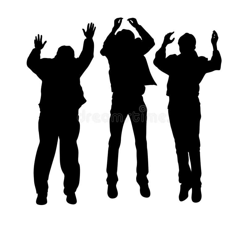 αγόρια που πηδούν το διάνυ διανυσματική απεικόνιση