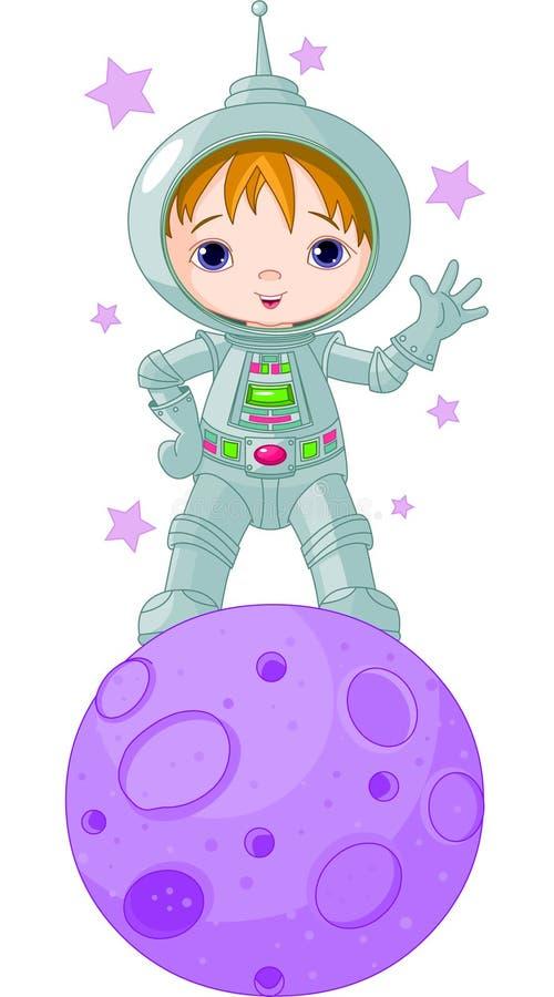 Αγόρι αστροναυτών ελεύθερη απεικόνιση δικαιώματος