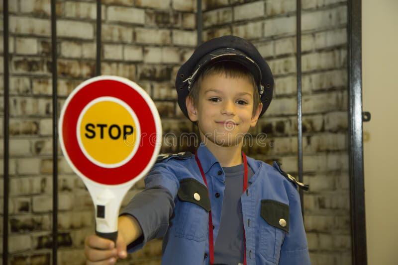 Αγόρι αστυνομικών στοκ εικόνες