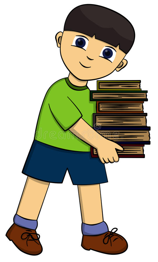 αγόρι βιβλίων ελεύθερη απεικόνιση δικαιώματος