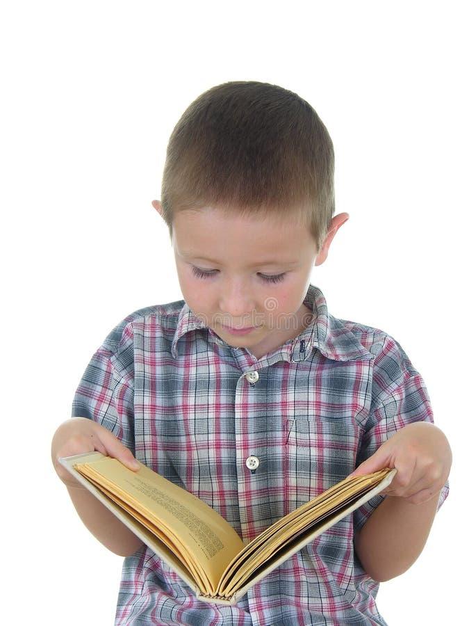 αγόρι βιβλίων στοκ φωτογραφίες