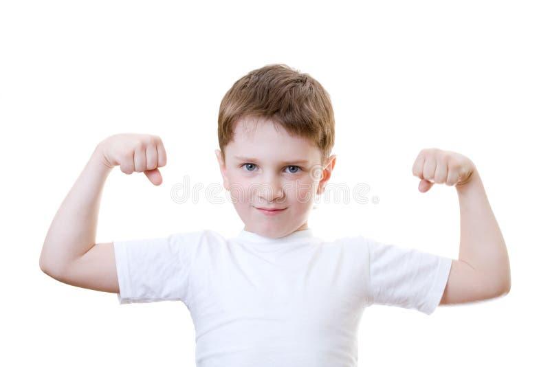 Download αγόρι η δύναμη showinh του στοκ εικόνα. εικόνα από χαριτωμένος - 2232035
