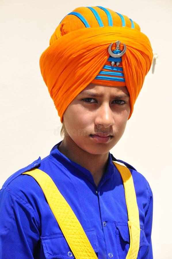 αγόρι ινδικό Σιχ στοκ φωτογραφίες με δικαίωμα ελεύθερης χρήσης