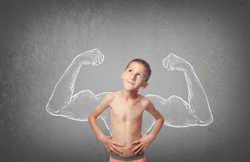 αγόρι ισχυρό στοκ φωτογραφία με δικαίωμα ελεύθερης χρήσης