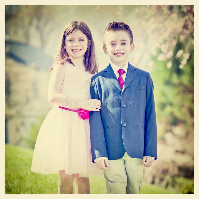 Αγόρι και κορίτσι στοκ εικόνα