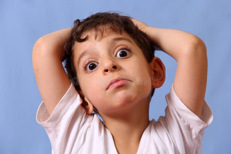 Αγόρι κατάπληξης στοκ φωτογραφία με δικαίωμα ελεύθερης χρήσης