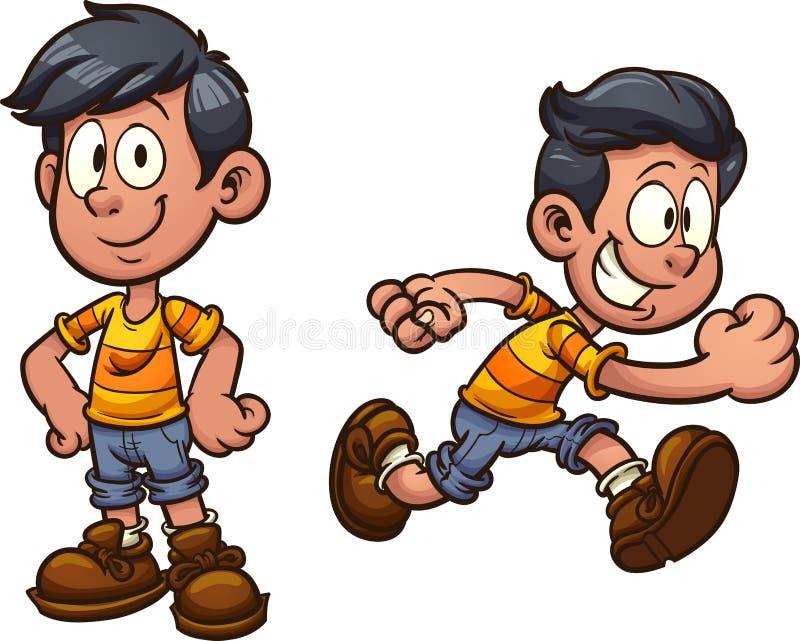 Αγόρι κινούμενων σχεδίων διανυσματική απεικόνιση
