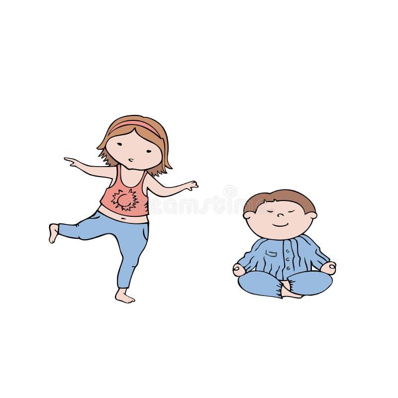 Αγόρι 1 κοριτσιών ελεύθερη απεικόνιση δικαιώματος