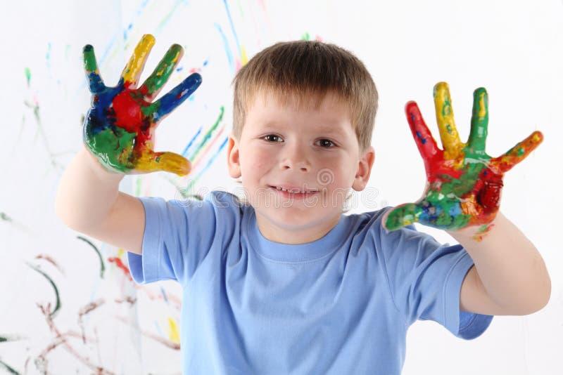 Download αγόρι λίγα στοκ εικόνα. εικόνα από χρώματα, childhood - 17052881