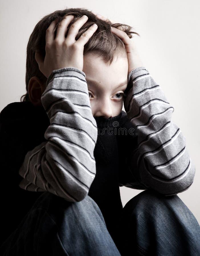 αγόρι λυπημένο στοκ εικόνα με δικαίωμα ελεύθερης χρήσης