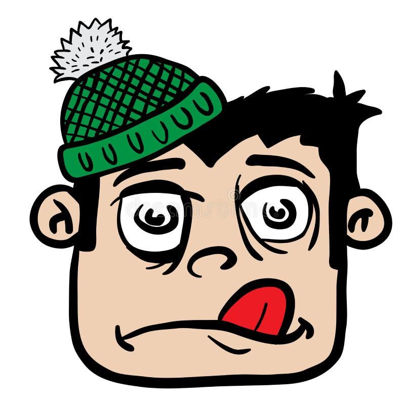 Αγόρι με το χειμερινό καπέλο διανυσματική απεικόνιση