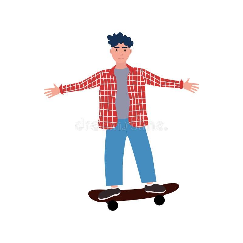 Αγόρι με skateboard διανυσματική απεικόνιση