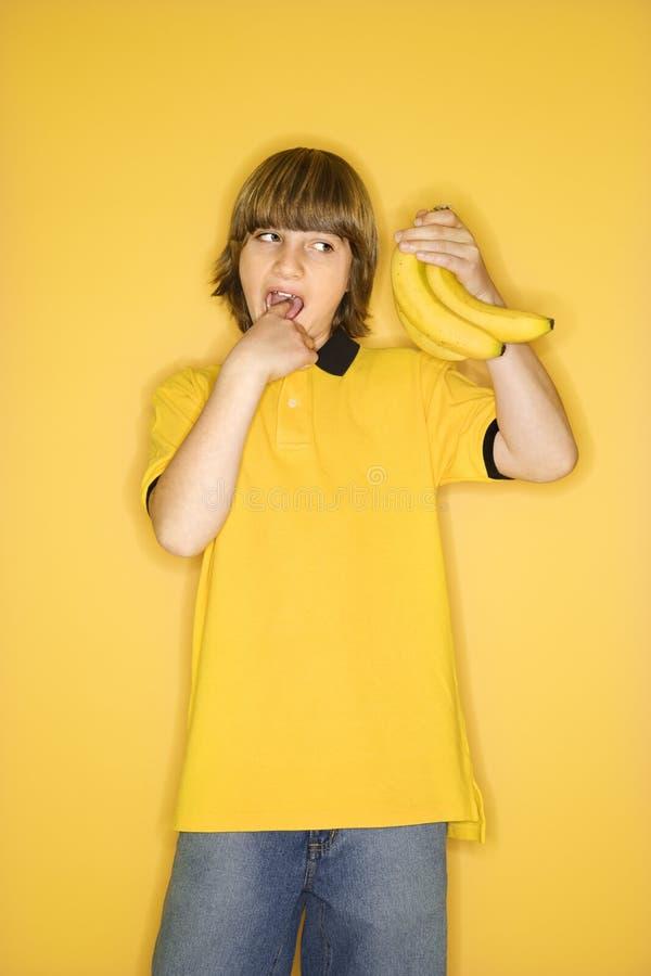 αγόρι μπανανών στοκ εικόνα με δικαίωμα ελεύθερης χρήσης