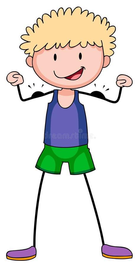 αγόρι μυϊκό διανυσματική απεικόνιση