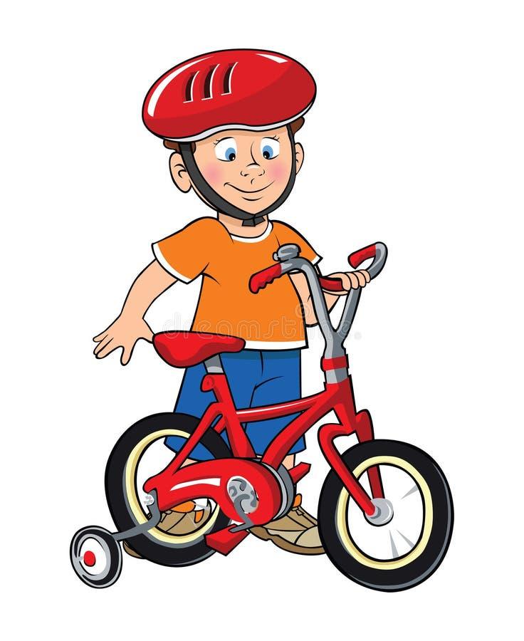 αγόρι ποδηλάτων δικοί το&upsilo απεικόνιση αποθεμάτων