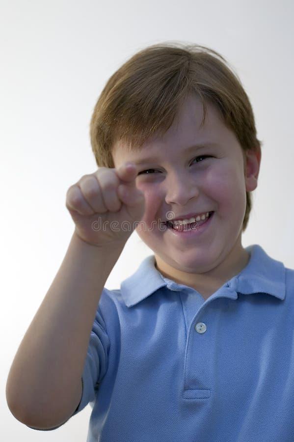 αγόρι που δείχνει το χαμό&gamma Στοκ φωτογραφίες με δικαίωμα ελεύθερης χρήσης