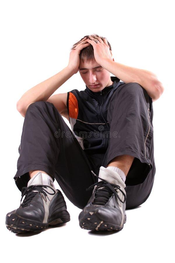 αγόρι που κουράζεται στοκ φωτογραφίες