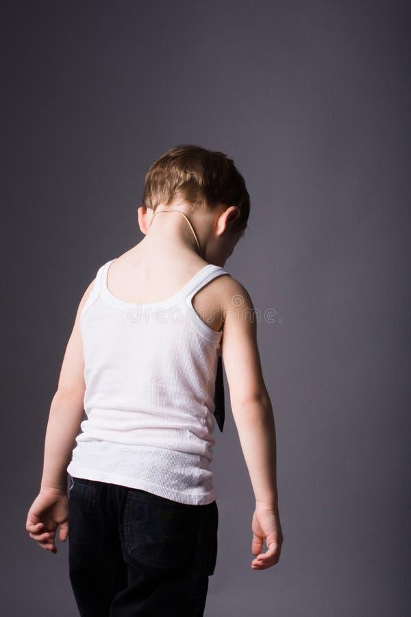 αγόρι που τονίζεται στοκ εικόνα με δικαίωμα ελεύθερης χρήσης