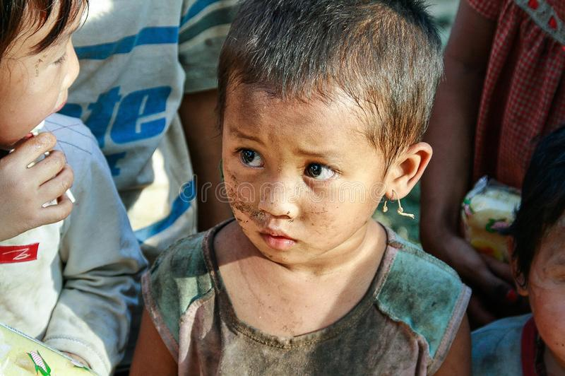 Αγόρι προσφύγων στοκ φωτογραφία