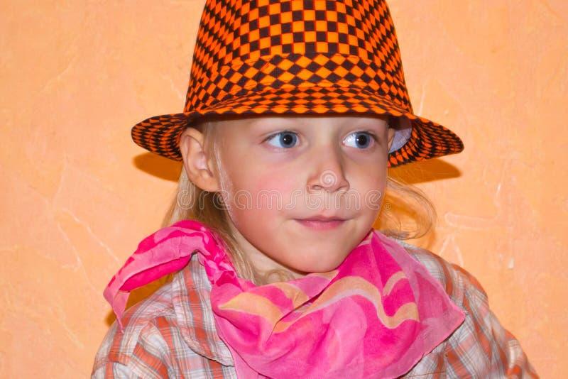 Αγόρι σε ένα καπέλο στοκ εικόνα