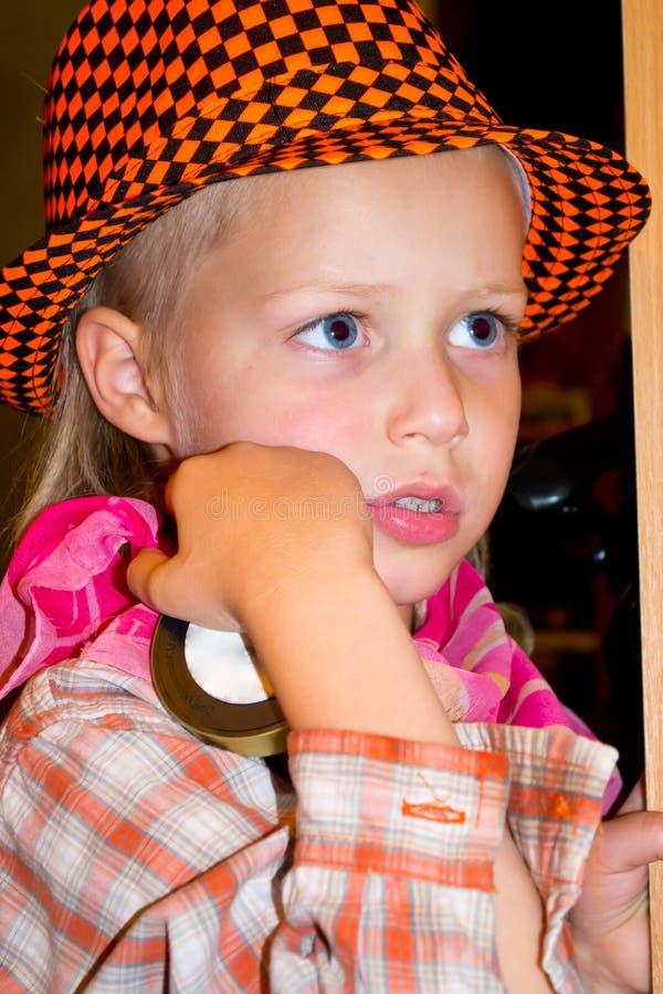 Αγόρι σε ένα καπέλο στοκ εικόνες