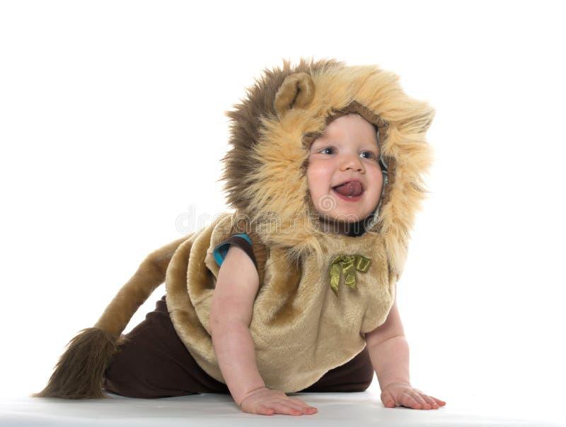 Αγόρι στο κοστούμι λιονταριών στοκ εικόνες με δικαίωμα ελεύθερης χρήσης