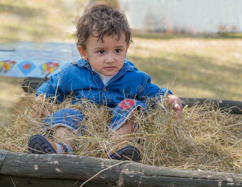 Αγόρι στο χωριό στοκ εικόνες