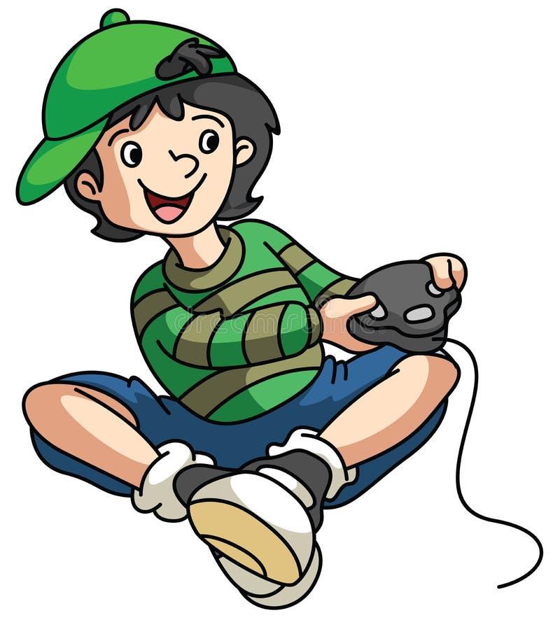 Αγόρι Gamer απεικόνιση αποθεμάτων