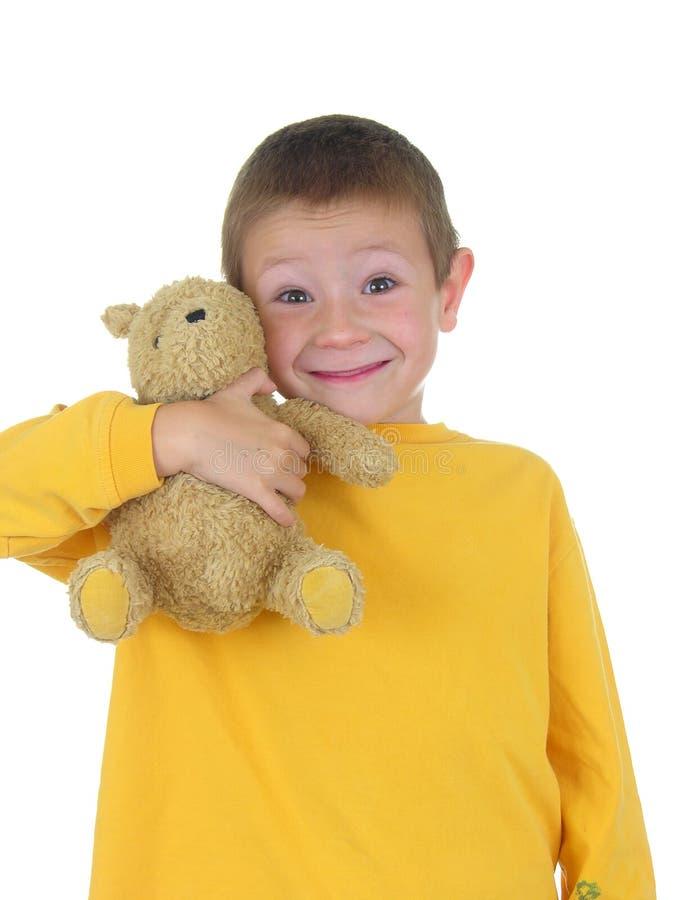 Download αγόρι teddy τρία του στοκ εικόνα. εικόνα από πυτζάμες, υπαίθρια - 396429