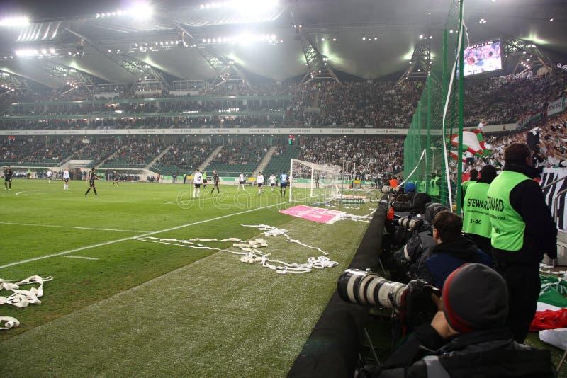 αγώνας ποδοσφαίρου στοκ εικόνες