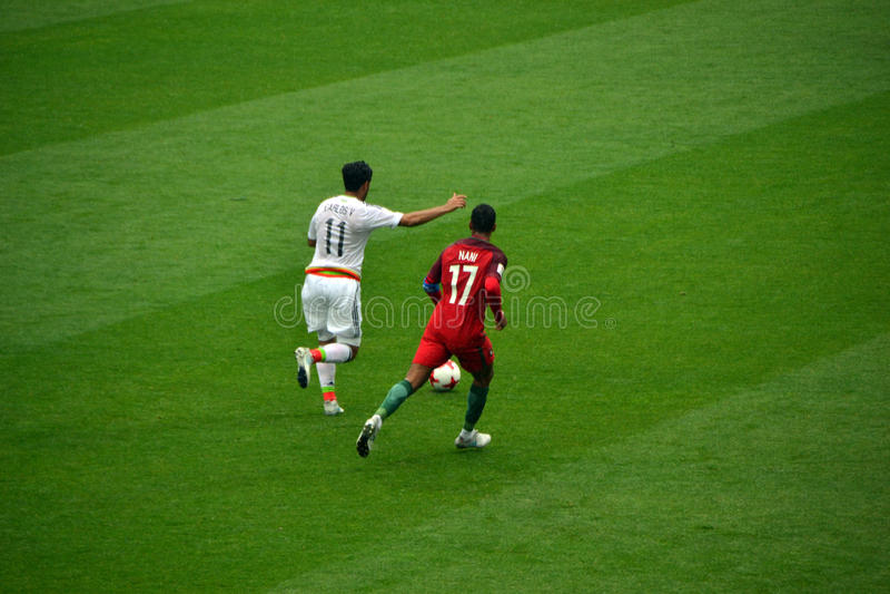 Αγώνας ποδοσφαίρου μεταξύ της Πορτογαλίας και του Μεξικού στη Μόσχα στις 2 Ιουνίου 2017 στοκ εικόνες με δικαίωμα ελεύθερης χρήσης