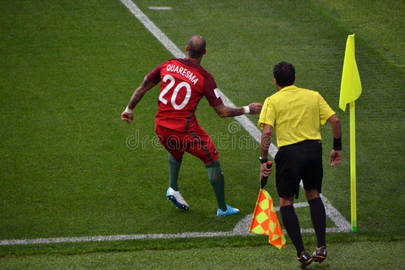Αγώνας ποδοσφαίρου μεταξύ της Πορτογαλίας και του Μεξικού στη Μόσχα στις 2 Ιουνίου 2017 στοκ φωτογραφίες