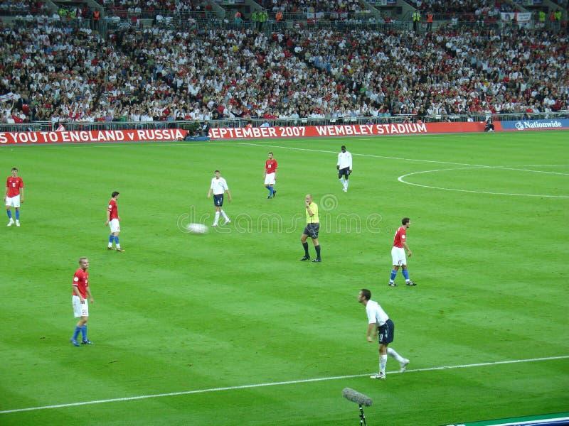 Αγώνας ποδοσφαίρου. στοκ φωτογραφία με δικαίωμα ελεύθερης χρήσης