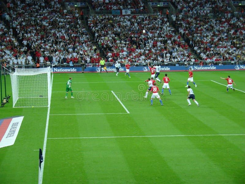 Αγώνας ποδοσφαίρου. στοκ φωτογραφίες